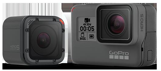 GoProHERO5 BLACKはハウジング不要で背面タッチディスプレイ付き